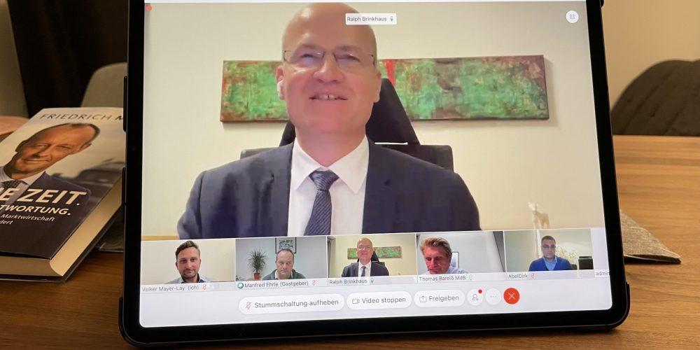 Wirtschaft im Fokus – Videokonferenz mit dem Fraktionsvorsitzenden